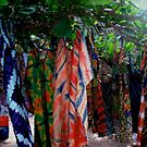 Washday Through a Glass, African Clothes Hanging on Trees by Wayne King