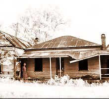 Ghostly Homestead Sepia by Kym Howard
