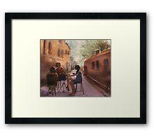 Cappuccino Courtyard Framed Print