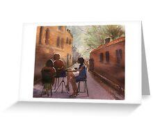 Cappuccino Courtyard Greeting Card