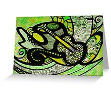 Lemon, Lime & The Blues Greeting Card