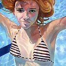 Muse in the water by Guntis Jansons