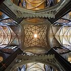 Salisbury Cathedral Ceiling - Salisbury, Wiltshire, England by David Morgan-Mar
