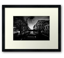 Salts Mill and Canal Evening Framed Print