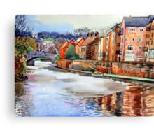 The Wensum riverside :Dec 2009 Canvas Print