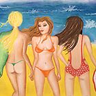 &#x27;Beach Belles&#x27; by Lisa Frances Judd ~ Original Australian Art