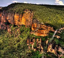 Awesome - Govetts Leap Lookout and Falls - The HDR Experience by Philip Johnson