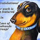 Dachshund&#x27;s banner challenge entry by Margaret Sanderson