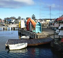Quay for Small dinghies at boat builder - Williamstown by EdsMum