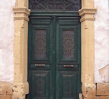 Old Green Door  by FizzyImages