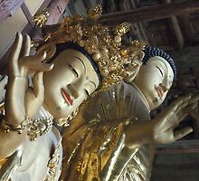 Maitreya Buddha and Friend by Shanna Underwood