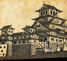 Himeji Castle (Parchment) by Isaac Root