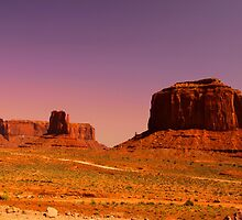 Red rock mountains by snehit