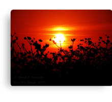Sunset in Paradise - unedited Canvas Print