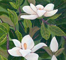 Magnolia II ~ Floral ~ Oil Painting by Barbara Applegate