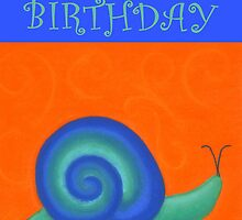 Happy Birthday - Snail by Julie Thomas