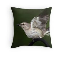 Flight of the Mockingbird Throw Pillow