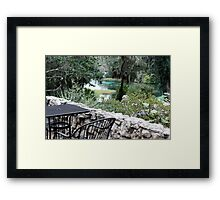 Table at Rainbow Springs State Park Framed Print