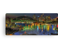 Experiment in Light - Panoramic - Moods Of A City - THE HDR Experience Canvas Print