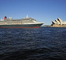 Queen Victoria Departing Sydney Harbour by Gino Iori