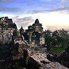 Borobudur at sunrise by pixelninja3000