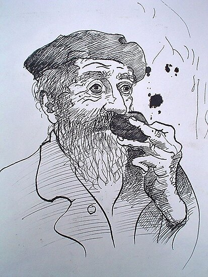 the truffle sniffer by Loui  Jover