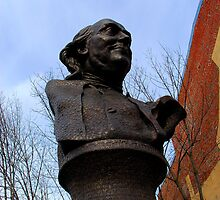 Benjamin Franklin Bronze Bust Statue by Paul Marotta