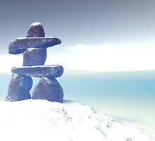 Winter inukshuk by mdkgraphics