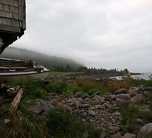 "Old Abandoned Shack with Boat ""Abandonship"" by iseezu"