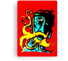 The peculiar blue dude  Canvas Print
