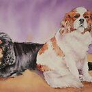 Jack & Bella, the King Charles pair. by Pauline Winwood