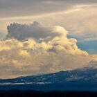 Cloud and Mountain scape by XanthicAmber