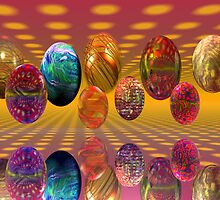 Happy Psychedelic Easter! by Sandra Bauser Digital Art