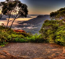 Natures Amphitheatre - Blue Mountains World Heritage Area - The HDR Experience by Philip Johnson