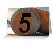 the number five Greeting Card