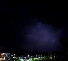 Lightning in Clouds over Silverwater Resort - San Remo by Andrew Arch