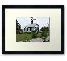 Florida Shotgun House Framed Print