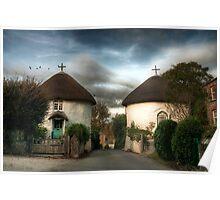 Veryan Houses - Cornwall landscape Poster