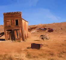 Californian Ghost Town as a pseudo oil painting by Susan Leonard