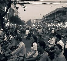 Traffic, Saigon, Vietnam.   by Paul Holland