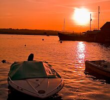 Sunset over Topsham by Michelle Lovegrove