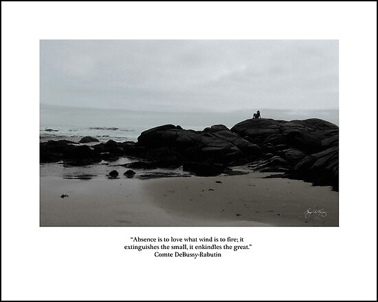 Absence to Love, Solitude at Goose Rocks Beach, York, Maine by Wayne King