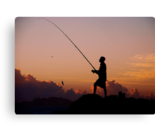 SEASCAPE FISHING Canvas Print