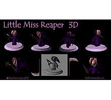 Little Miss Reaper 3D Photographic Print