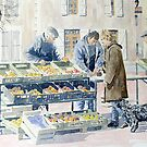 Market scene, Montbron, France by ian osborne