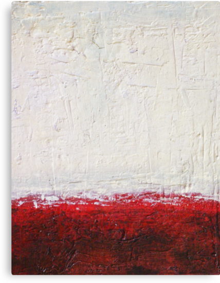 Simply Red 4 - mixed media abstract painting on canvas  by Marco Sivieri