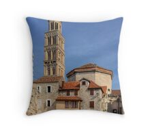 Cathedral of St. Duje Throw Pillow