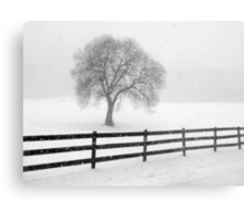 listen: the snow is falling all around Metal Print