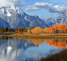 Majestic Fall Reflection  by Isabelle Norboge-Bindreiff