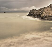 Trevellas Porth in the winter by Rick  Senley